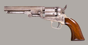 CASED COLT MODEL 1849 POCKET REVOLVER